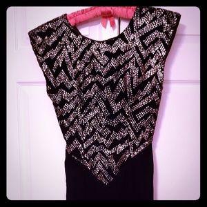 {vintage} ZUM ZUM Size 5/6 Velvet Rhinestone Dress